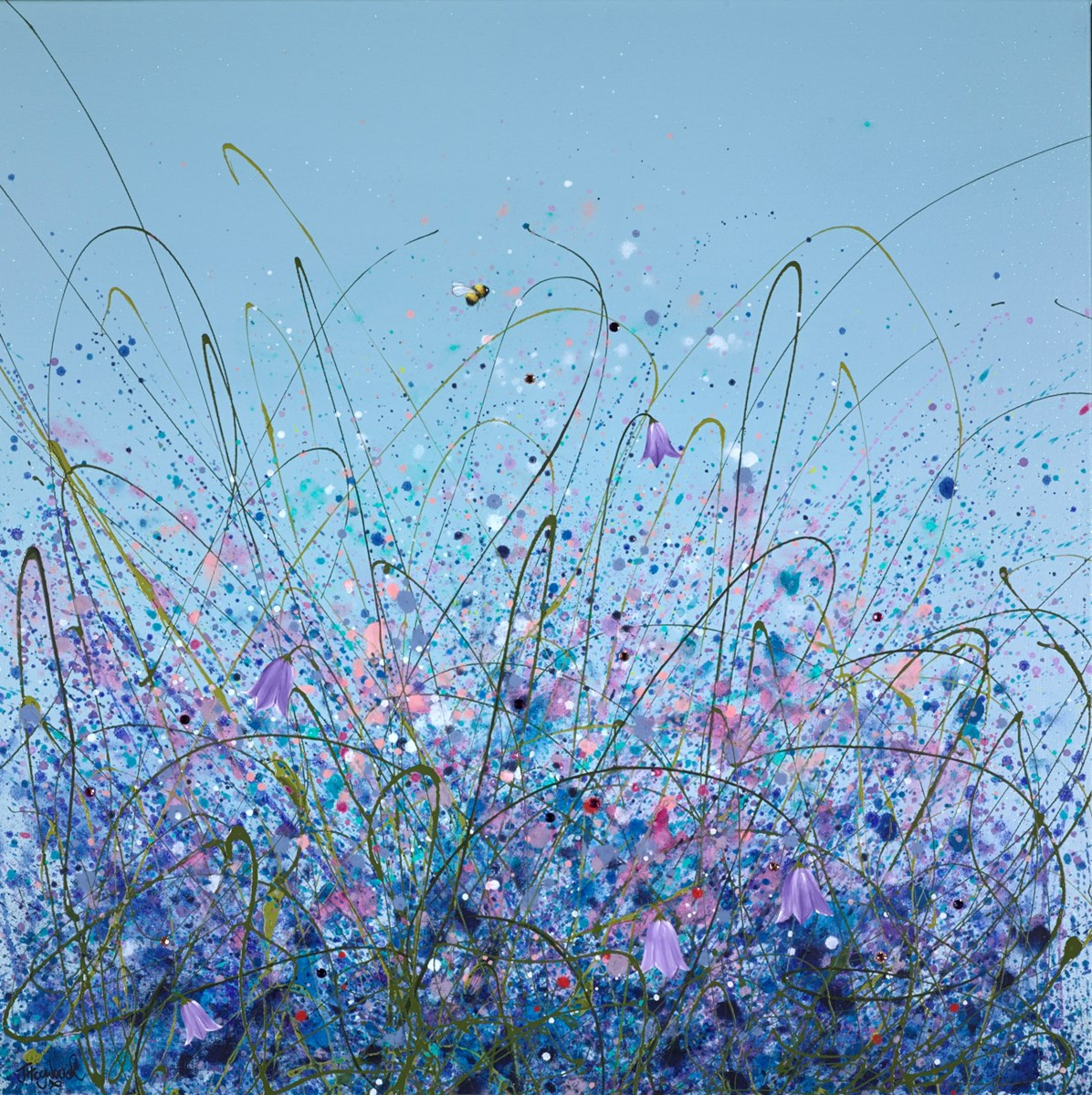 Harebell Meadow by jennifer hogwood -  sized 32x32 inches. Available from Whitewall Galleries